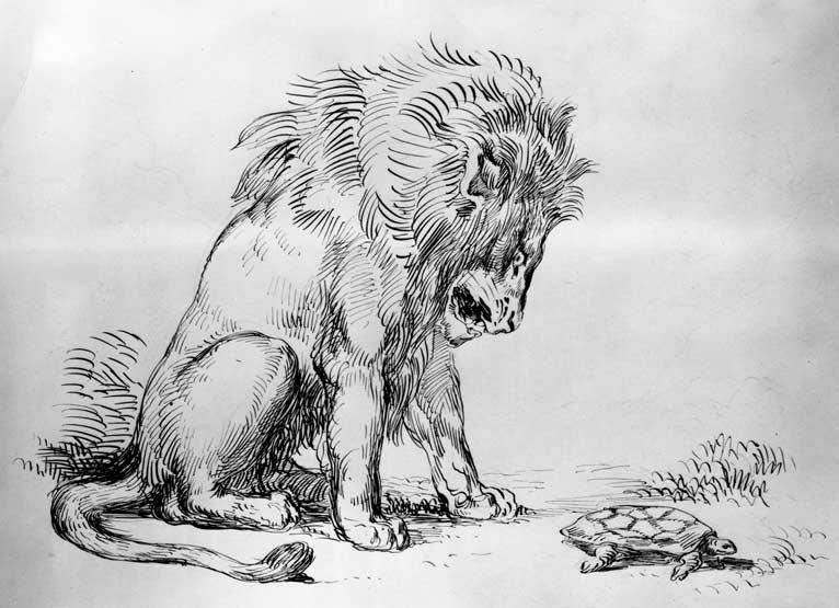 delacriox-lion-turtle